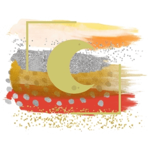 luna icono sendanatur oro